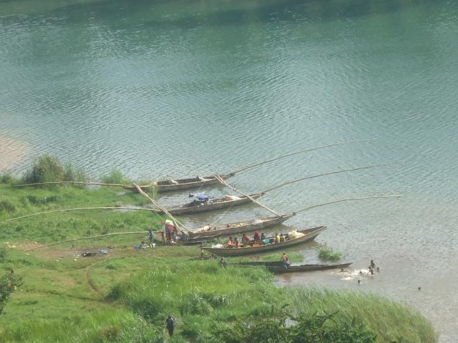 Rusizi, au bord du lac Kivu, avril 2013