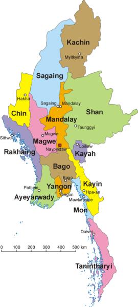 Territoires de la Birmanie.
