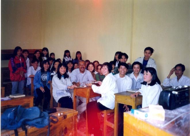 Étudiants de 4è année, octobre 1998.