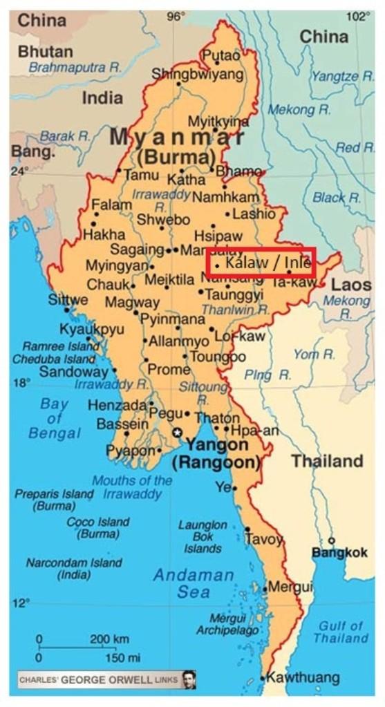 La Birmanie, rebaptisée en 1989, Myanmar.
