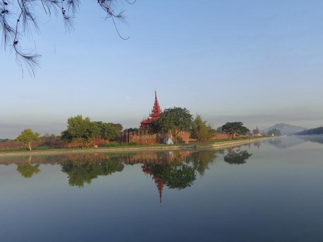 La citadelle (ancien siège du pouvoir royal birman), à Mandalay, par où je suis brièvement passé avant de regagner le pays shan, à Hsipaw