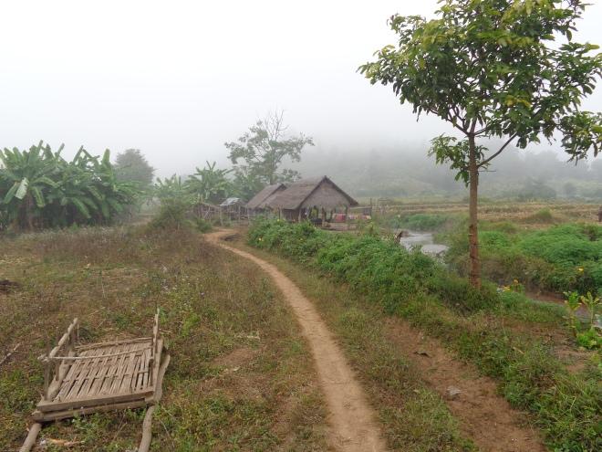 Sentiers et villages, en pays shan, au sud de Hsipaw.