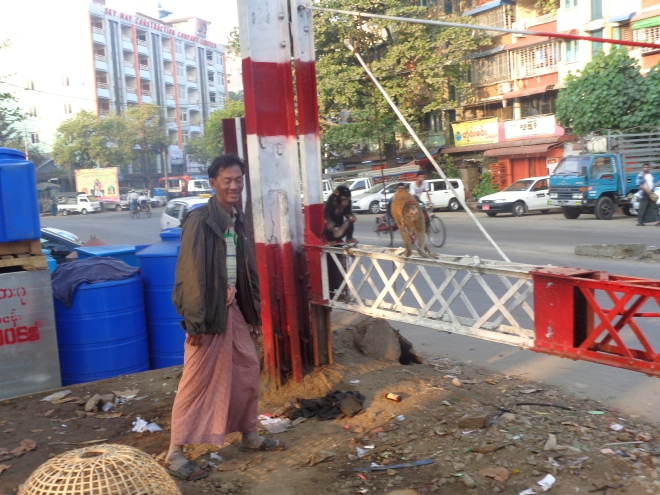 Yangon, quartier Pazundaung, janvier 2015