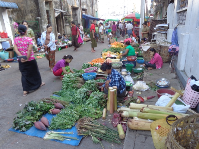 Marchés de Yangon