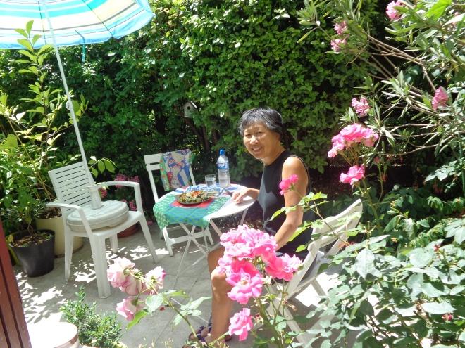 Notre jardin à Belleville, lundi 6 juillet.