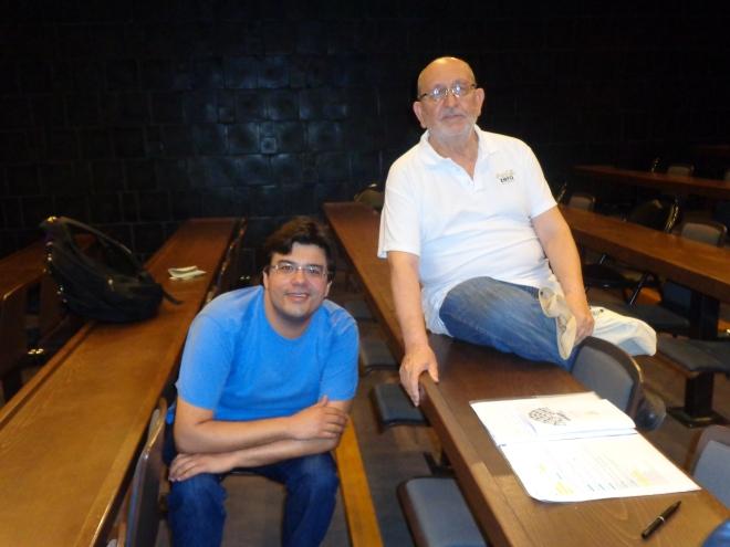 Camarades de classe, Silvio, de Sao Paulo, et Francisco de Madrid