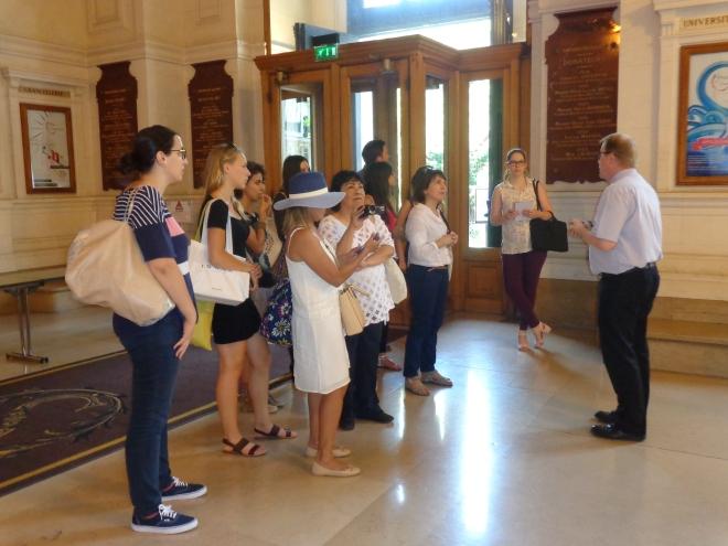 Visite de la Sorbonne et de la Cour d'honneur, 2 juillet