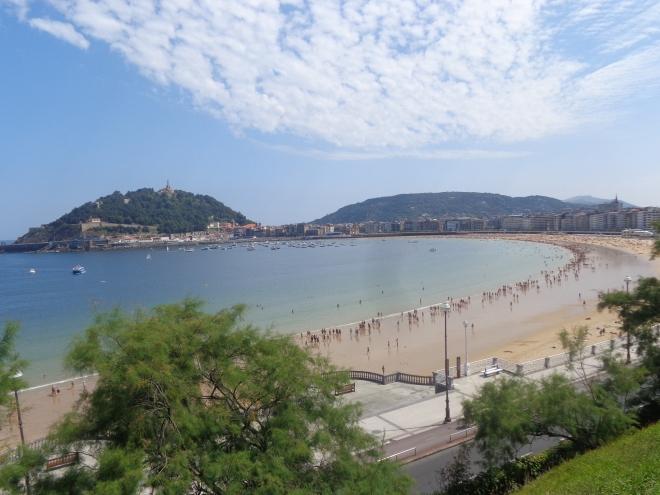 Playa de la Concha, San Sebastian, lundi 20 juillet