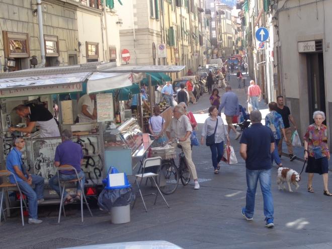 Florence, quartier du marché San Ambrogio, septembre 2015