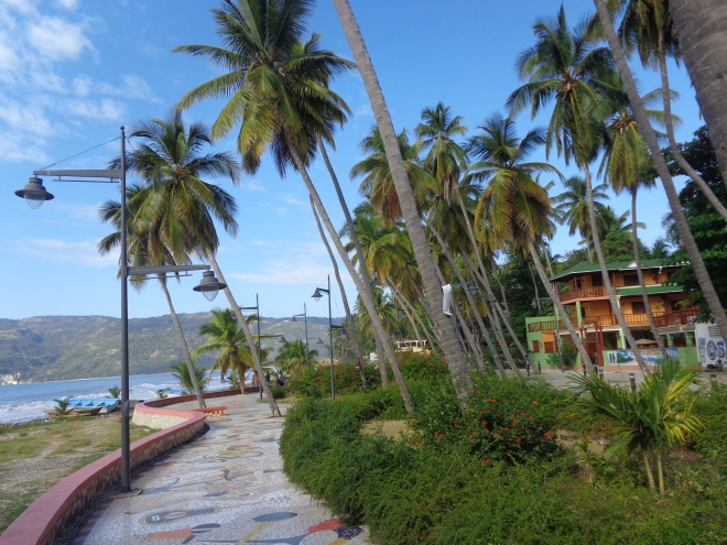 Promenade du bord de mer, Jacmel, février 2016.