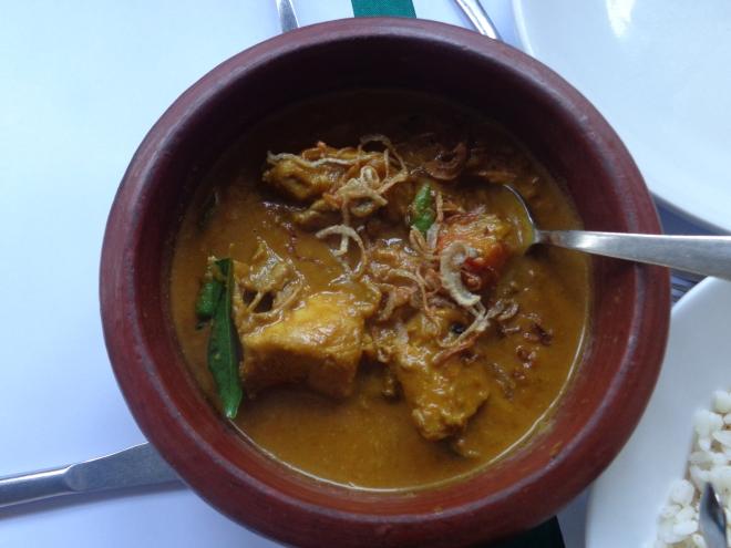 Poulet au curry. Délicieux!