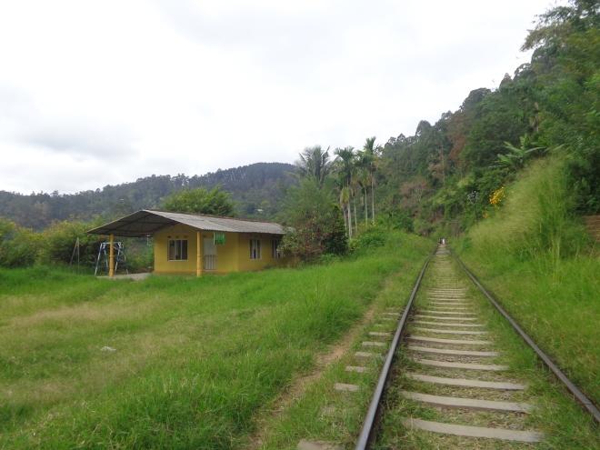 La voie ferrée permet souvent l'accès aux sentiers qui mènent aux montagnes. Ci-dessous, vue d'un des sommets qui surplombent Ella, lundi 2 janvier.