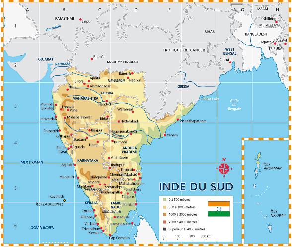 Carte De Linde Du Sud Cochin.Kerala Sri Lanka Carnets De Voyages